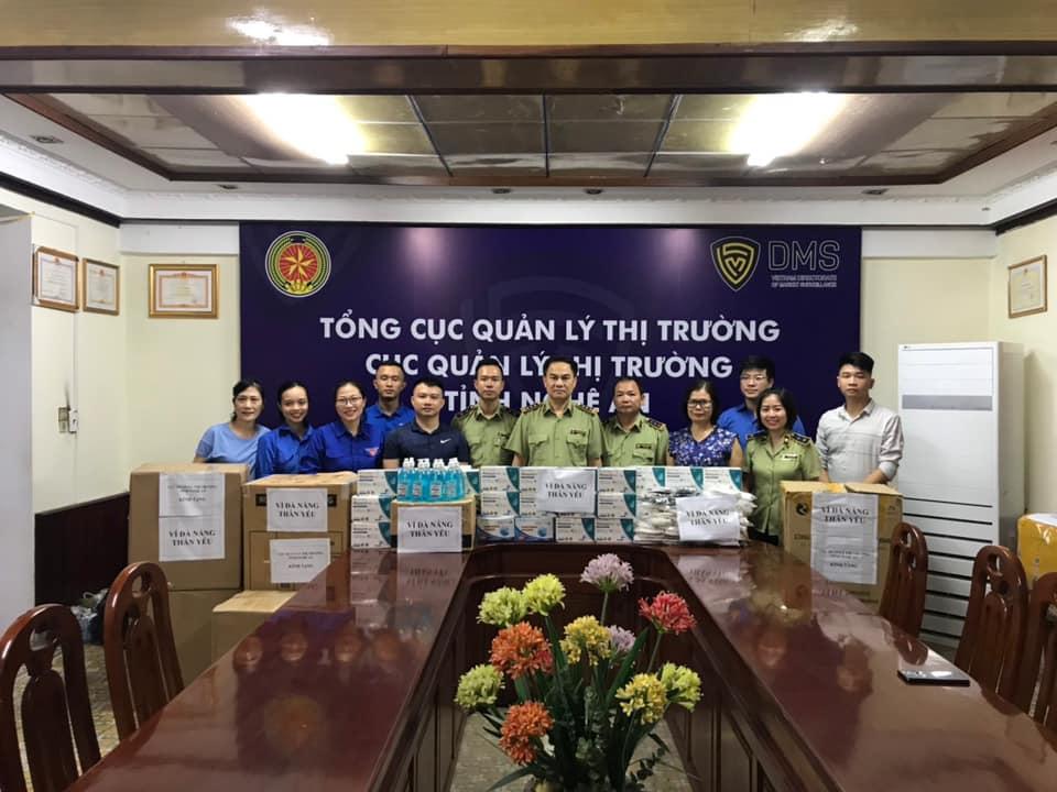 Cục QLTT Nghệ An chung tay ủng hộ Đà Nẵng, Quảng Nam chống dịch Covid-19